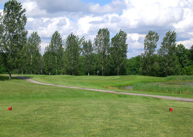 A view from a tee at Turkey Run Golf Club
