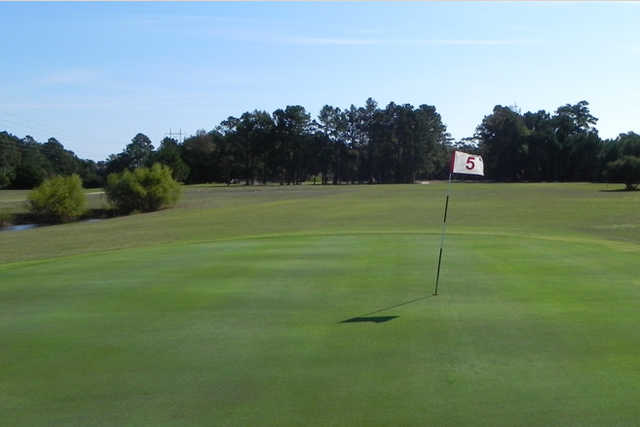 A view of hole #5 at Holly Ridge Golf Course