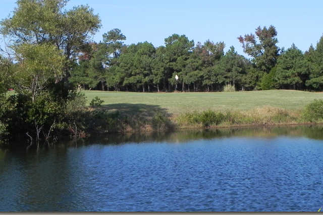 A view over the water from Holly Ridge Golf Course