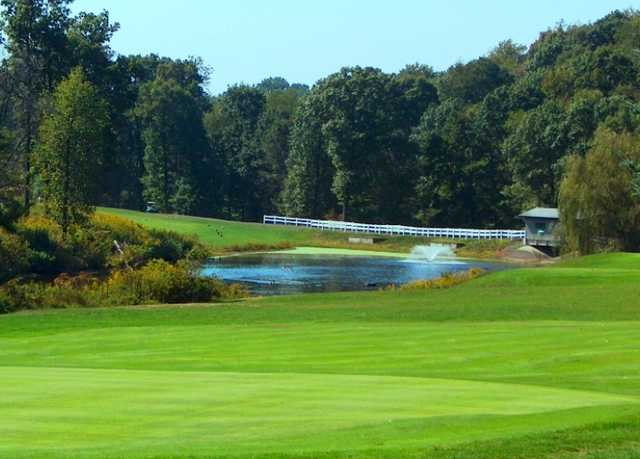 A view of the 12th hole at Pittsburgh National Golf Club