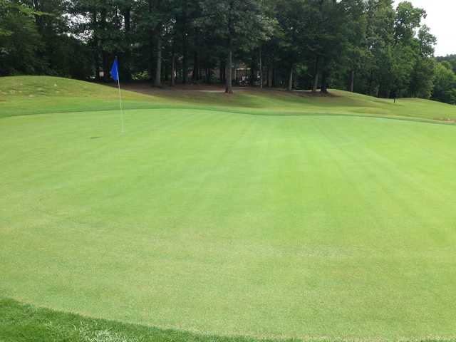 A view of a green at Ole Still Golf Club