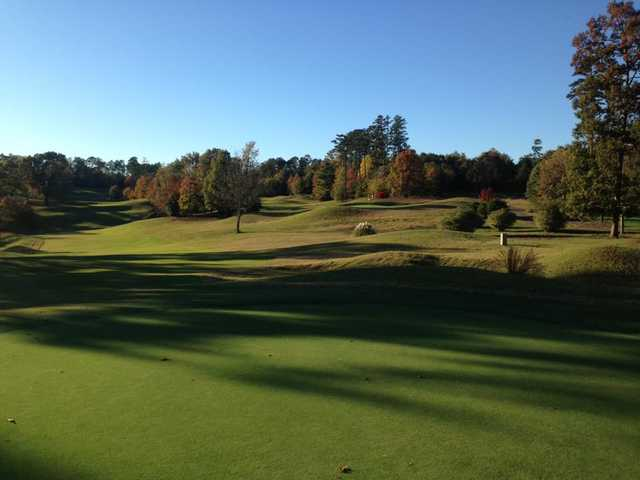 A fall day view from Ole Still Golf Club