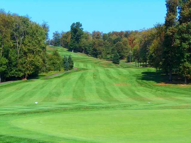 A view from the 14th green at Pittsburgh National Golf Club