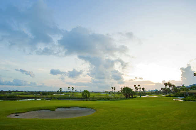 View from Moody Gardens Golf Course
