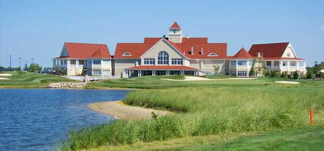 A view of the clubhouse at  Macatawa Golf Club