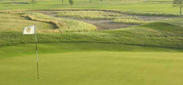 A view of a green at  Macatawa Golf Club