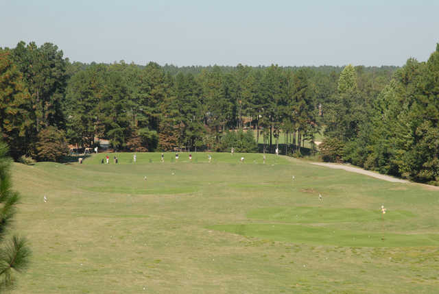 A view of the driving range at Talamore Golf Resort