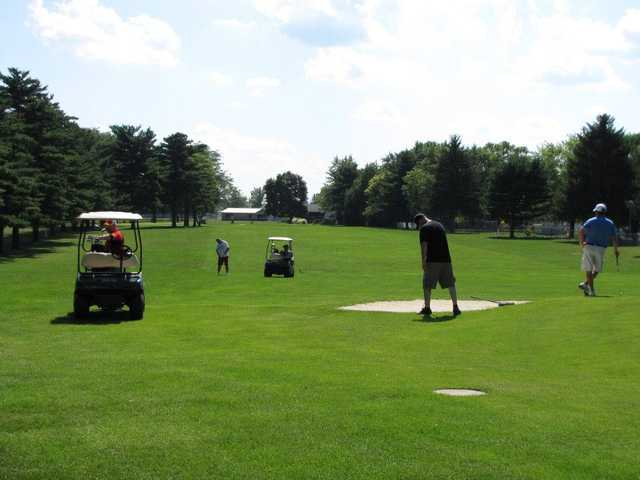 A view of a fairway at Twin Lakes Golf Course
