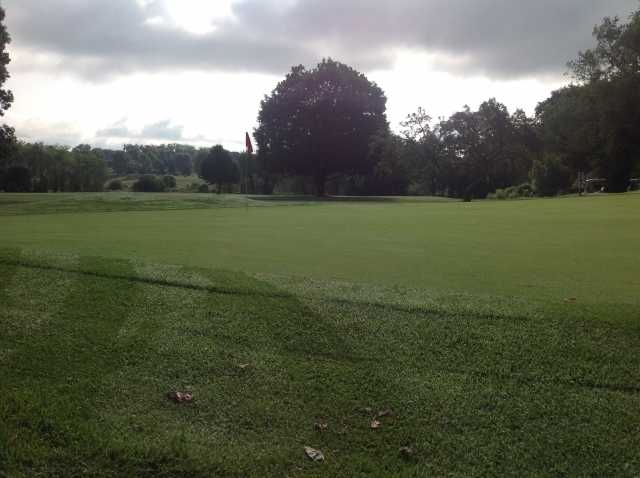 A view of a green at Spring Hills Golf Club