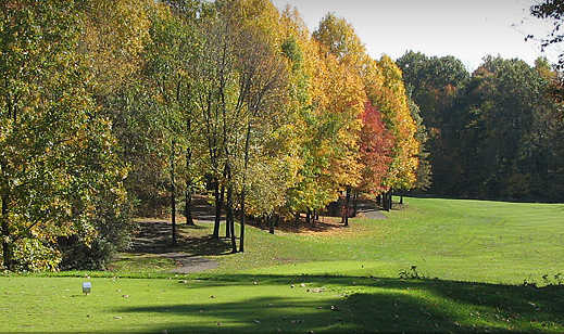A view from a tee at Hawks Nest Golf Club