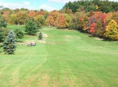 A fall day view of a fairway at Clearview Golf Club
