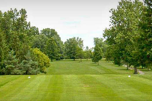 A view from a tee at Pine Brook Golf Links.