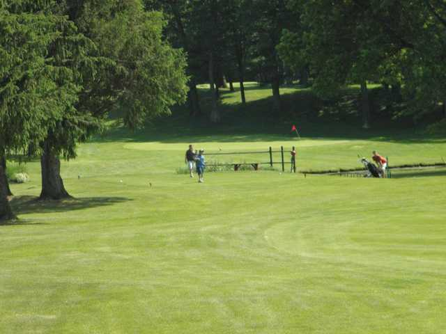 A view of a hole at Lake View Golf Course