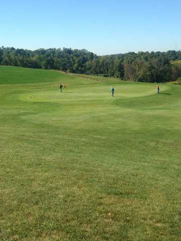 A view of a green at Crystal Springs Golf Club