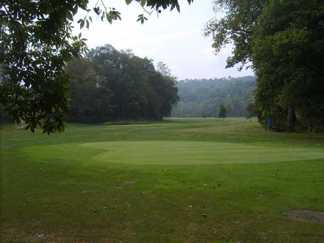 A view of green #2 at Horseshoe Bend Golf Course