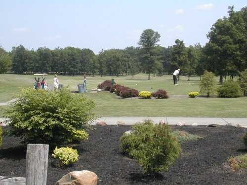 A sunny day view from Hickory Grove Golf Course