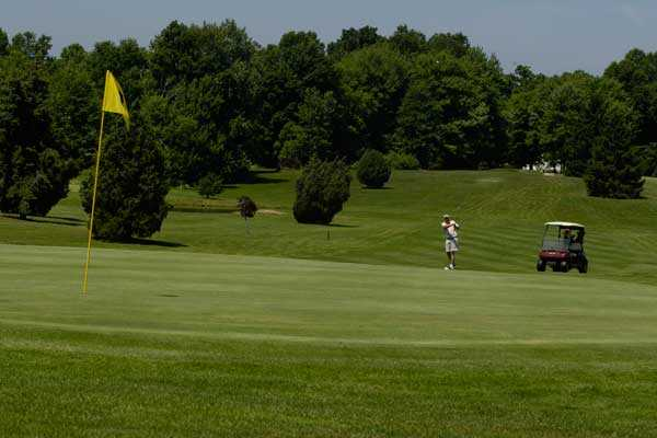 A view of hole #9 at Lakeside Golf Course
