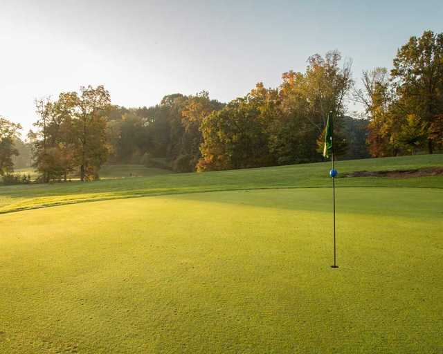 A view of hole #2 at Hocking Hills Golf Club & Urban Grille