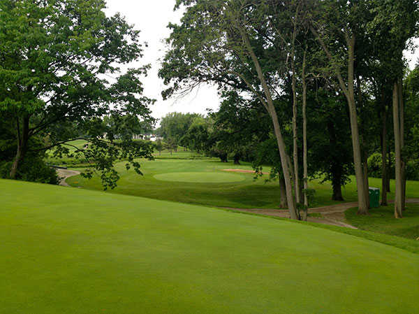 A view of hole #13 at FoxCreek Golf & Racquet Club