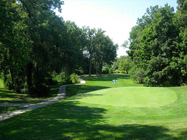 A view of the 17th hole at FoxCreek Golf & Racquet Club