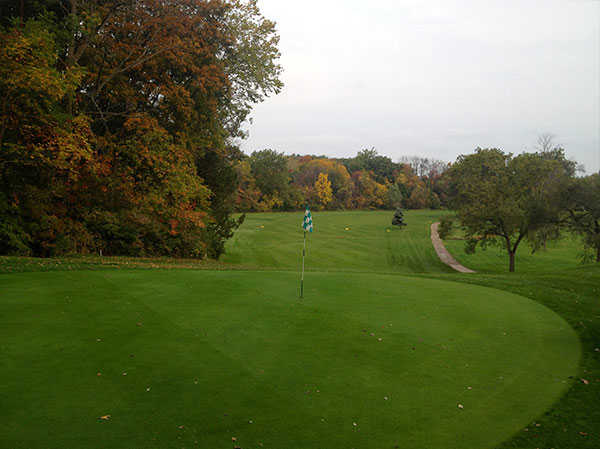 A view of the 3rd green at FoxCreek Golf & Racquet Club