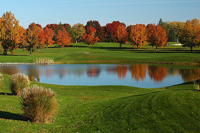 A fall day view from Green Crest Golf Club