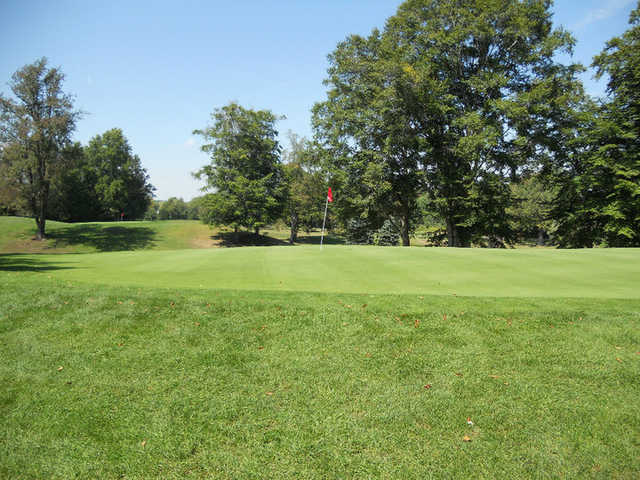 A view of the 6th green at Suffield Springs Golf Club