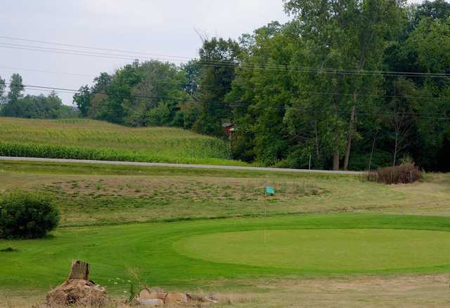 A view of green #4 at Hillcrest Country Club