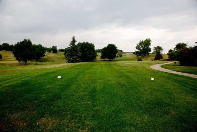 A view from a tee at Hillcrest Country Club