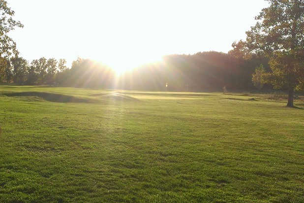 A sunny day view of a green at Windy Acres Golf Course (Jennifer Conroy)