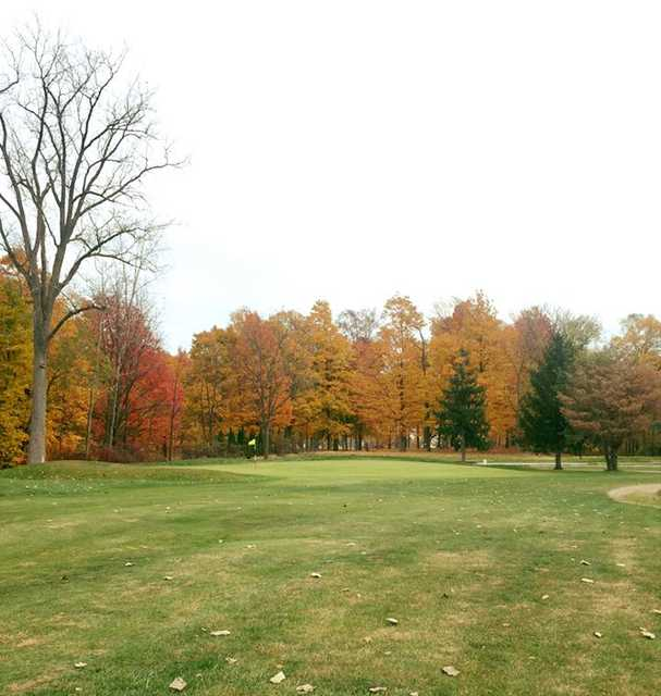 A view of green #14 at Millstone Hills Golf Club