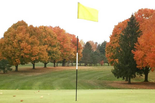 A view of hole #5 at Millstone Hills Golf Club