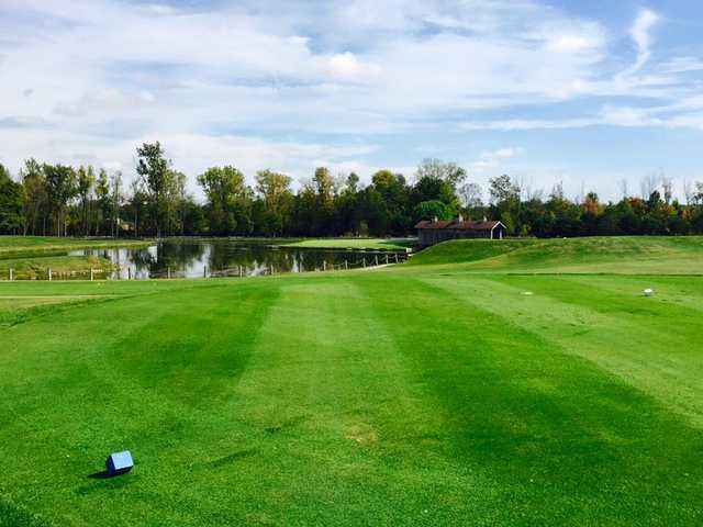 A view from a tee at Millstone Hills Golf Club
