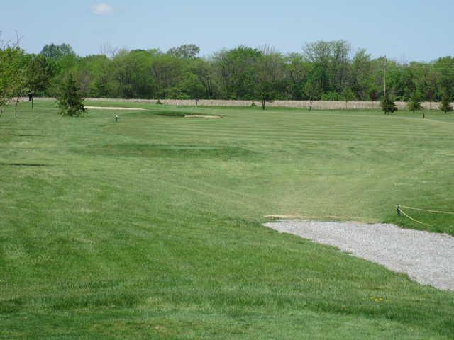 A view of fairway #16 at Birch Run Golf Club