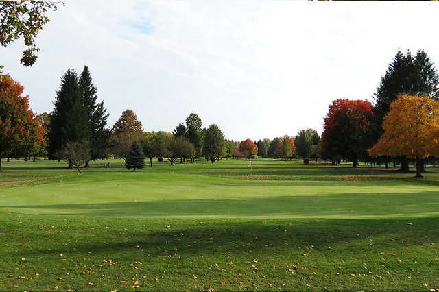 A view of a green at Riverview Golf Course