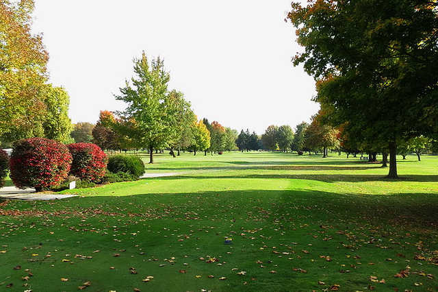 A view from a tee at Riverview Golf Course