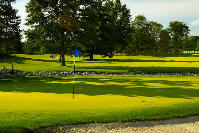A view of hole #1 at Oberlin Golf Club