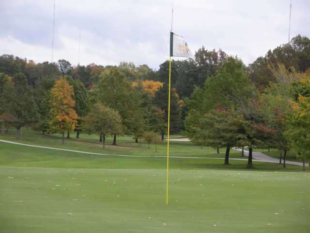 A view of a hole at Ridgewood Golf Course