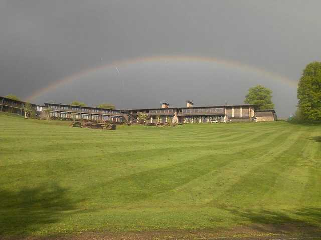A splendid rainbow protecting Atwood Lake Resort Golf Course