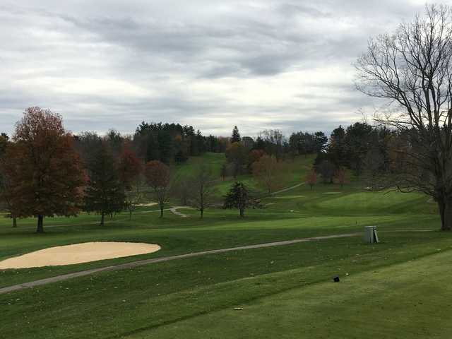 A view from a tee at Belmont Hills Country Club