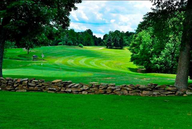 A view of a green at Hide-A-Way Hills Golf Course
