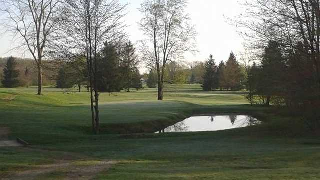 A view of hole #8 at Geauga Hidden Valley Golf Course