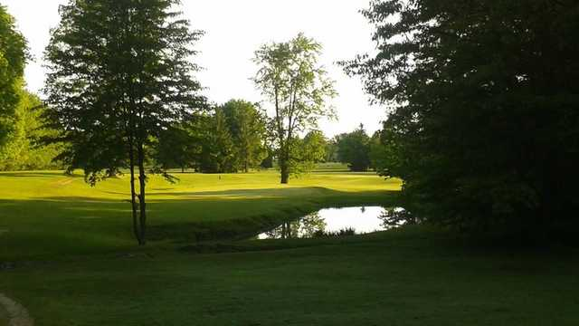 A view of a green at Geauga Hidden Valley Golf Course