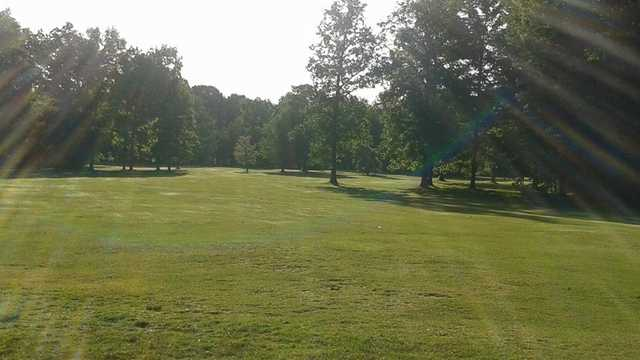 A sunny day view of a fairway at Geauga Hidden Valley Golf Course