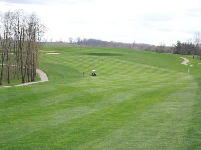 A view of fairway #4 at Whitetail Ridge Golf Course