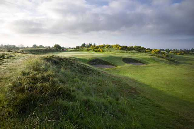 A look at a magnificent green at Irvine Golf Club