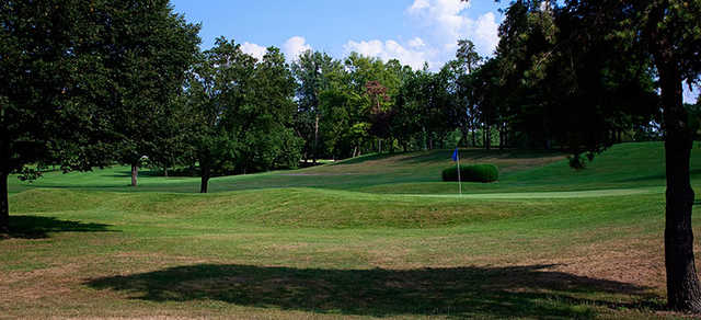 A view of a hole at Troy Country Club
