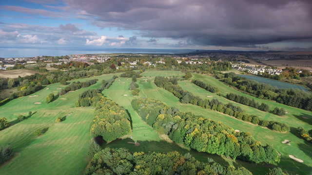 Aerial view from Musselburgh Golf Club