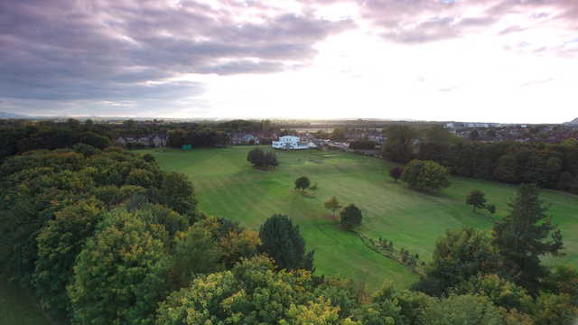 Musselburgh GC: aerial view of #1 & #18