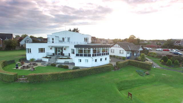 View of Musselburgh Golf Club's clubhouse